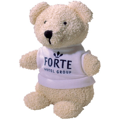 "Image of 5"" Beanie Bear with White T Shirt"