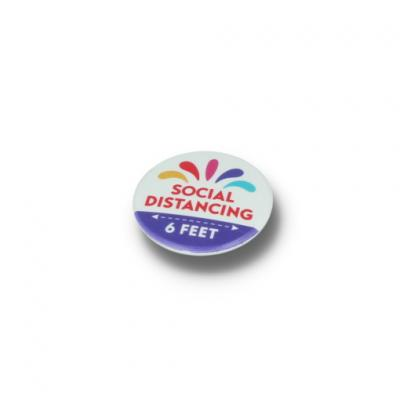 Image of SOCIAL DISTANCING BUTTON BADGE - 37MM CIRCLE